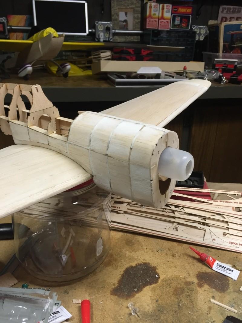 building a Guillows kit P 40 02911
