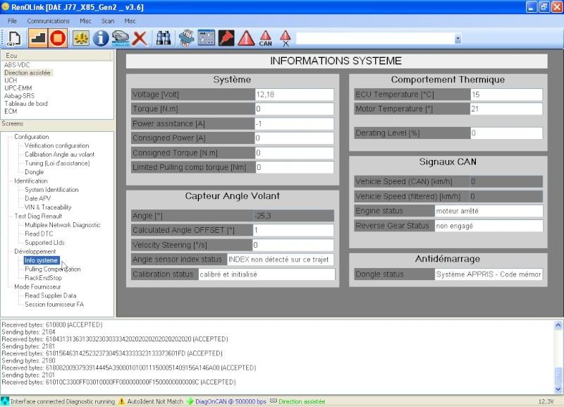 un nouveau logiciel qui remplace le DDT2000, qui s'appelle Renolink Captur13