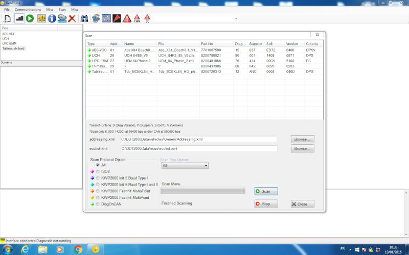 un nouveau logiciel qui remplace le DDT2000, qui s'appelle Renolink Megane10