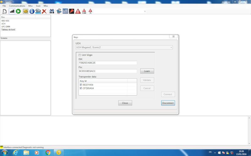un nouveau logiciel qui remplace le DDT2000, qui s'appelle Renolink Megane11