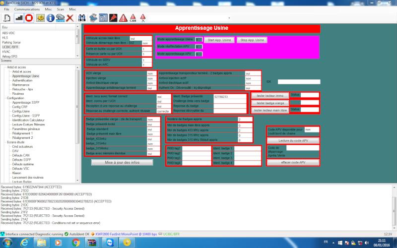un nouveau logiciel qui remplace le DDT2000, qui s'appelle Renolink Reno_310