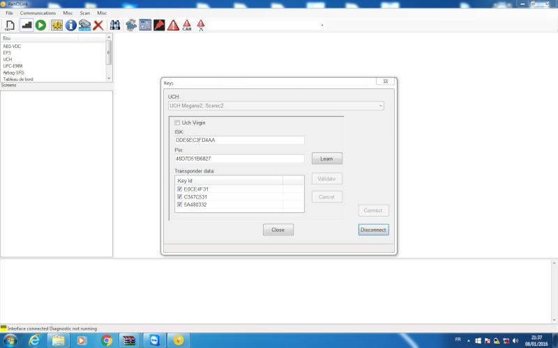 un nouveau logiciel qui remplace le DDT2000, qui s'appelle Renolink Reno_m10