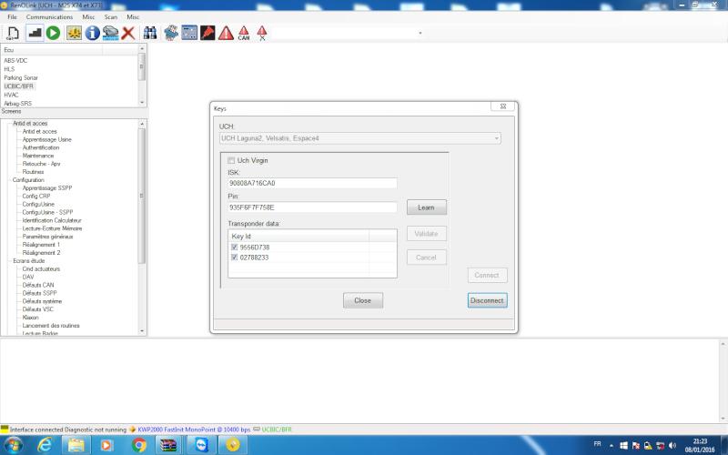 un nouveau logiciel qui remplace le DDT2000, qui s'appelle Renolink Renoli10