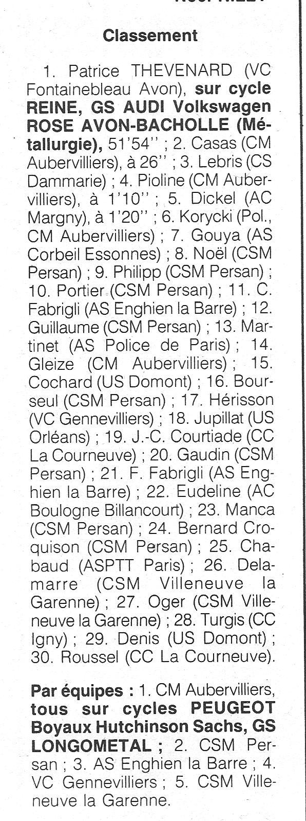 Coureurs et Clubs de janvier 1990 à octobre 1993 00331