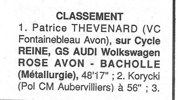 Coureurs et Clubs de janvier 1990 à octobre 1993 00334