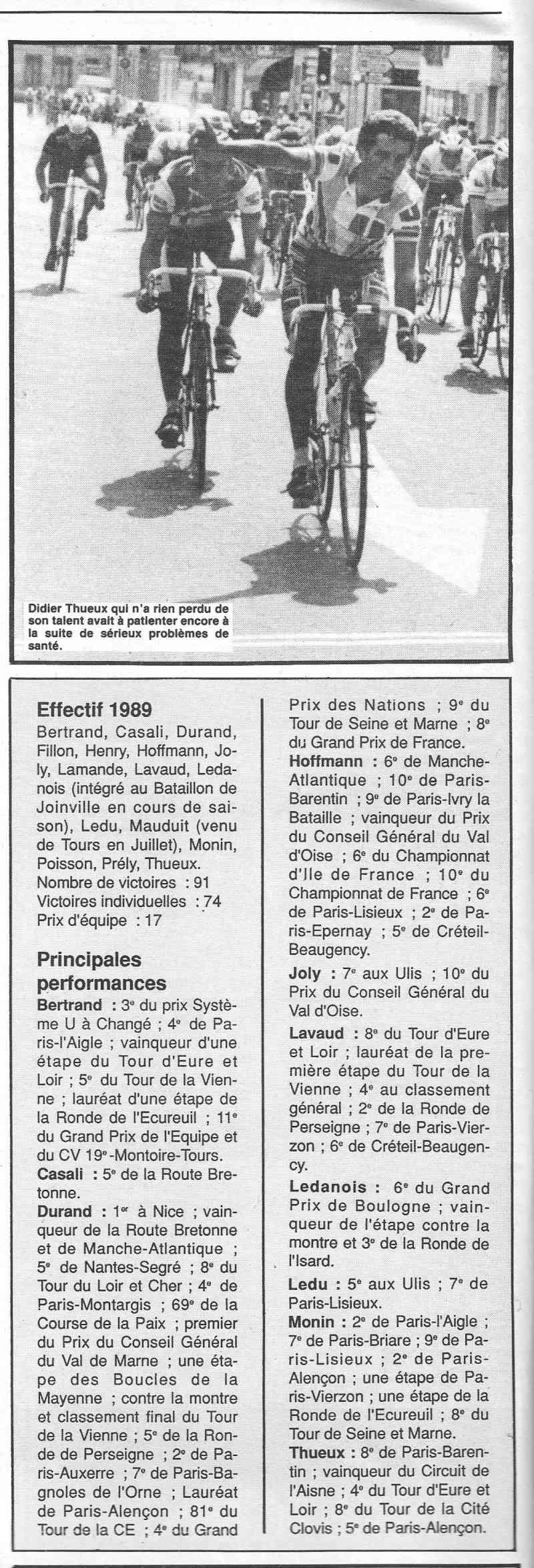 Coureurs et Clubs de janvier 1990 à octobre 1993 00623
