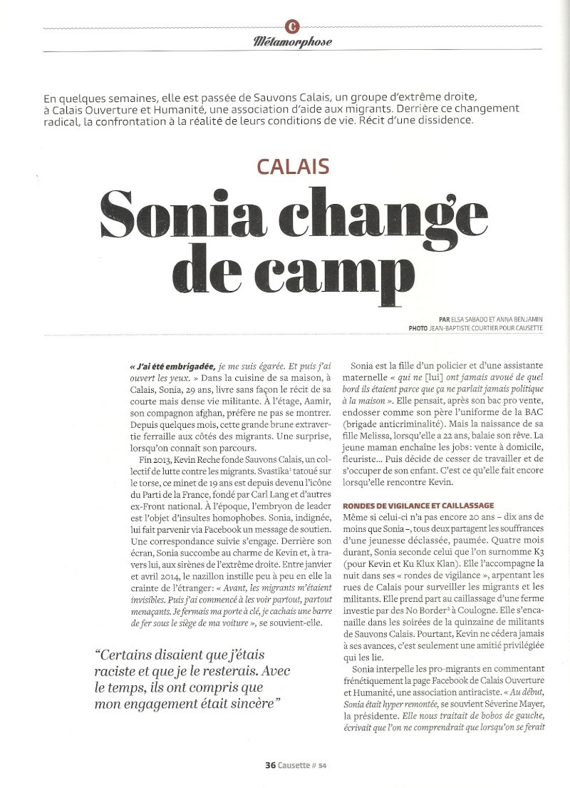 Calais - Sonia change de camp Calais10