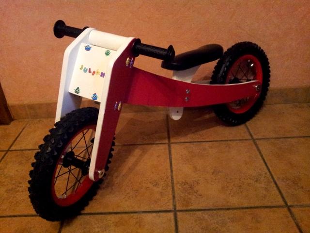 Draisienne ou vélo sans pédale pour mon petit fils 20160119
