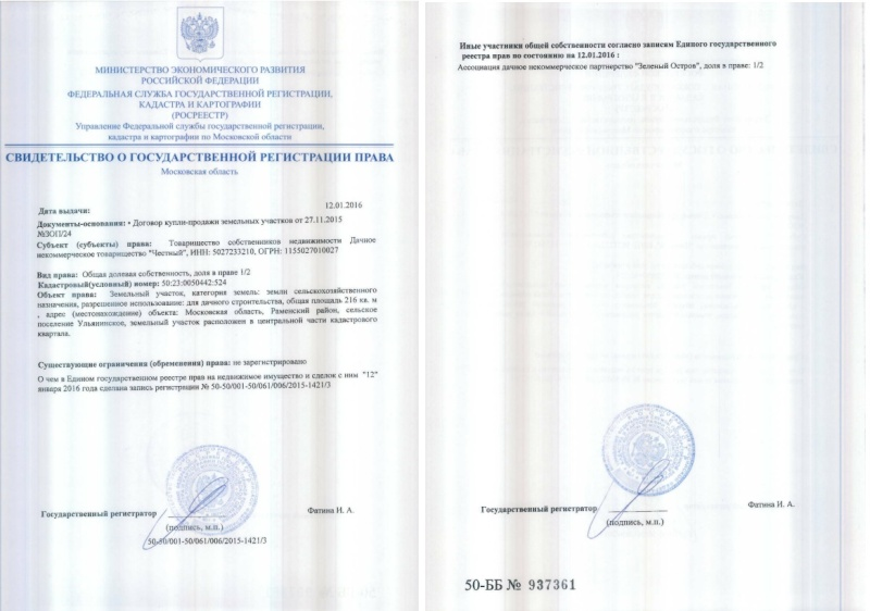 Устав и протоколы ДНП Зеленый остров 10