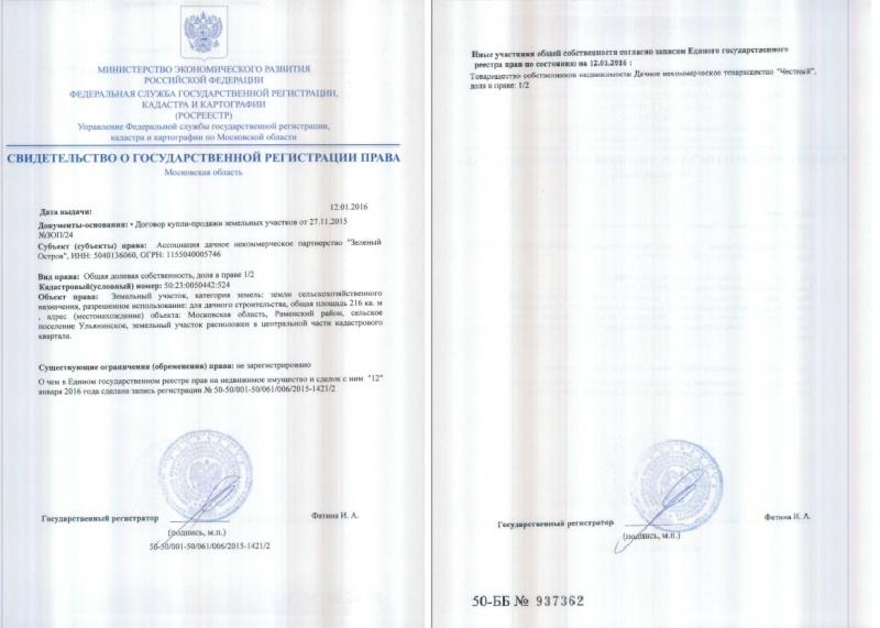 Устав и протоколы ДНП Зеленый остров A10