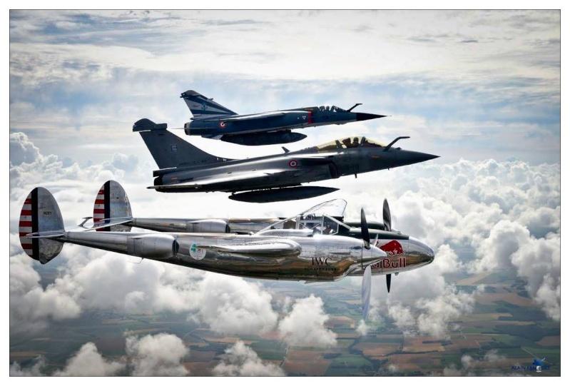 Photo P38, Rafale et Mirage F1 12370910