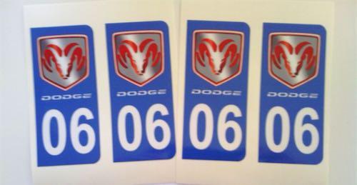 Stickers plaque minéralogique pour DODGE The_tr10