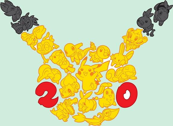 Les 20 ans de Pokémon : 11 pokémon distribués, les premiers films en HD, ... Logo2011