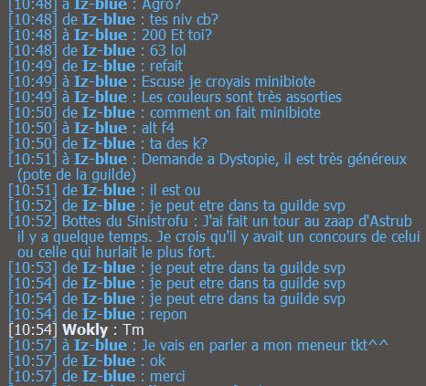 C'est l'histoire d'Iz-blue, remake du diner de cons. Izblue16