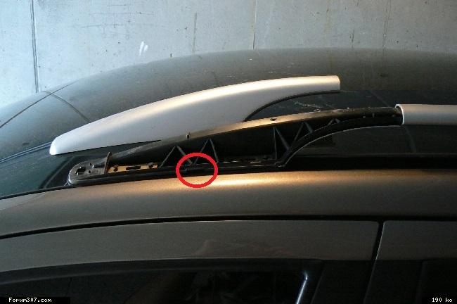 Comment démonter les caches des barres de toit  de la 206sw X_ec-t11