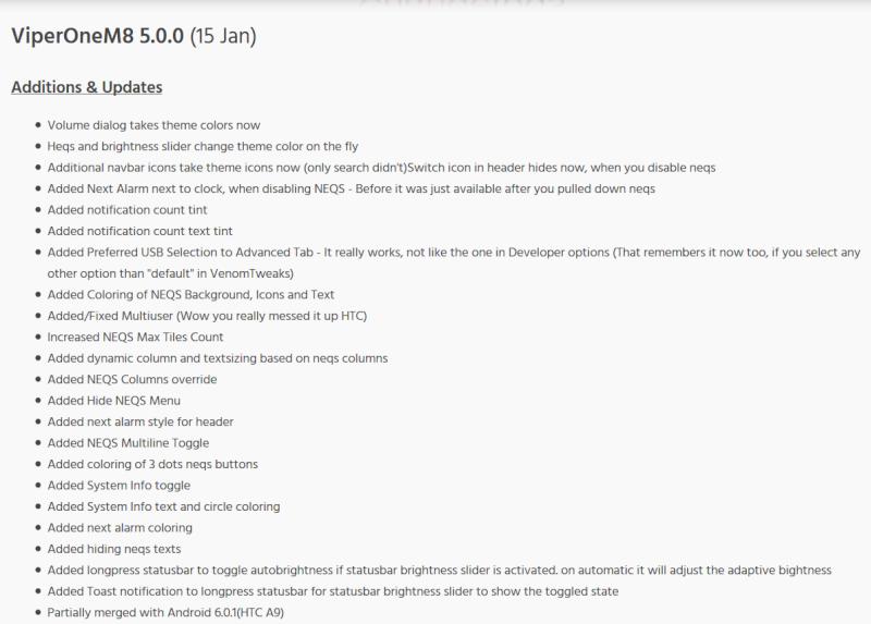 [ROM HTC ONE M8] MARSHMALLOW SENSE 7   ViperOneM8 6.1.0   1.80.401.3 [20/07/2016] TOPIC2 - Page 6 V10
