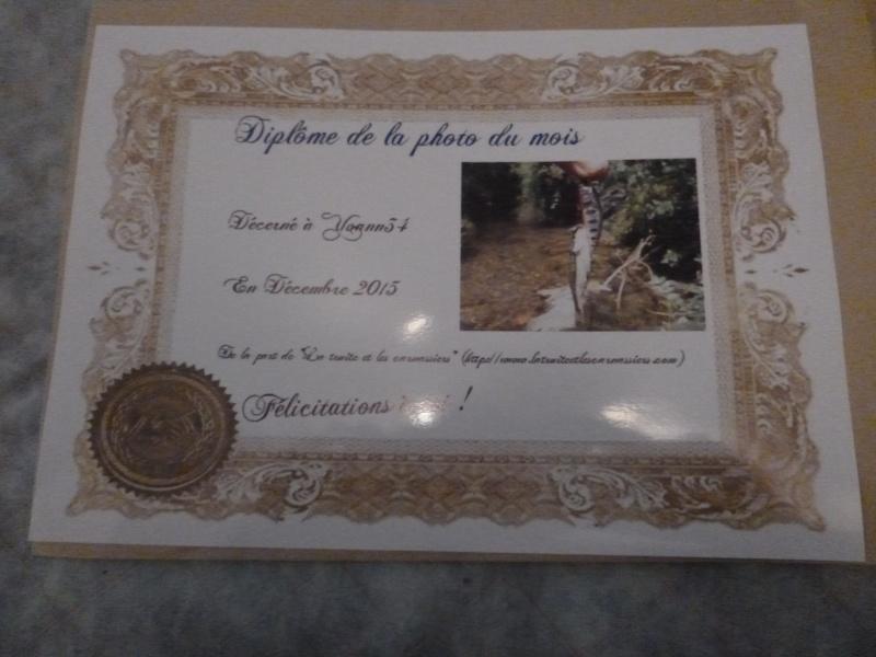 Félicitations au vainqueur de décembre P1010514