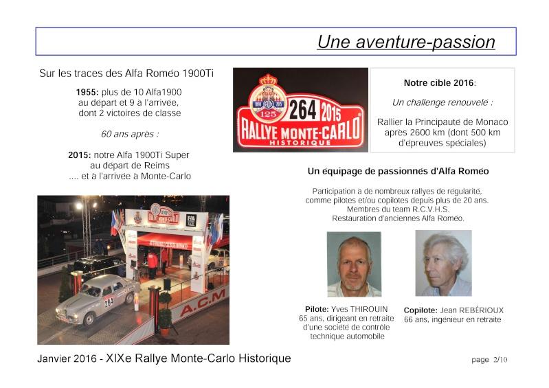 Rallye Monte Carlo Historique 2016 - Benoît/Stéphane - Page 7 000210