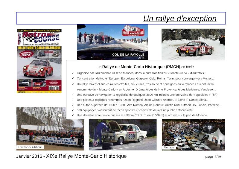 Rallye Monte Carlo Historique 2016 - Benoît/Stéphane - Page 7 000310