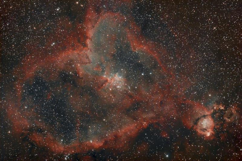 Longue pose sur IC1805 Ic180511