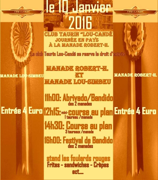Journée Taurine le 10 Janvier 2016 Manade Robert-H. Codognan Progra11