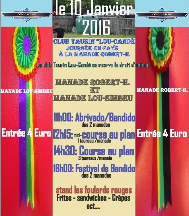 Journée Taurine le 10 Janvier 2016 Manade Robert-H. Codognan Progra12