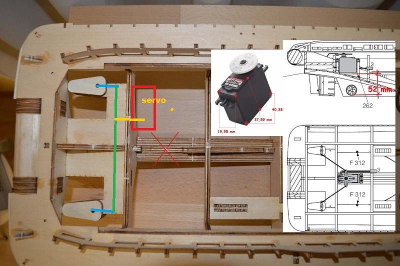 du Fairmount Alpine de Billing Boats, recherche de conseils Servo011