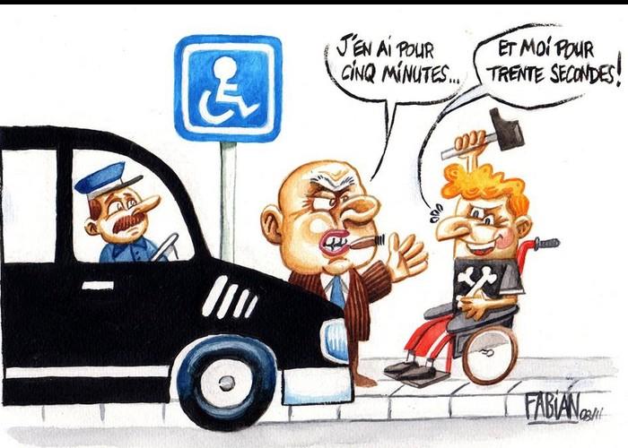 RAZ LE BOL DE L'INCIVILITÉ MEPRISANTE ET L'IRRESPECT GRANDISSANT ENVERS LES PERSONNES HANDICAPEES .... 730