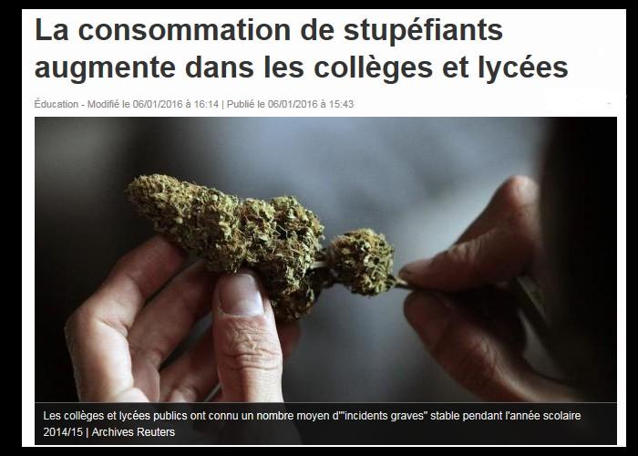 La consommation de stupéfiants augmente dans les collèges et lycées  Sans_424
