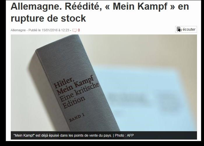 Allemagne. Réédité, « Mein Kampf » en rupture de stock  Sans_516
