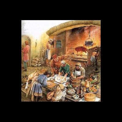 Bien avant la Renaissance, la cuisine du Moyen Age est simple, Sans_605