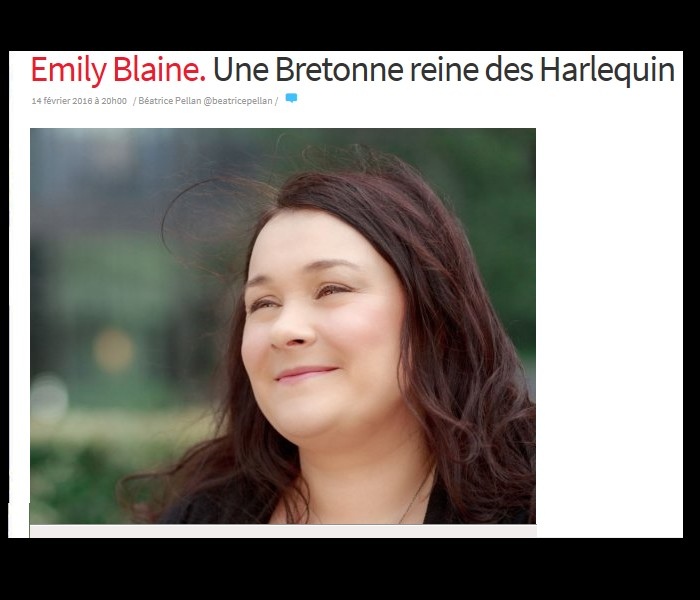 Emily Blaine. Une Bretonne reine des Harlequin Sans_812