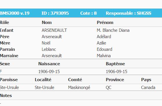 Arseneault Adelard famille Captur13