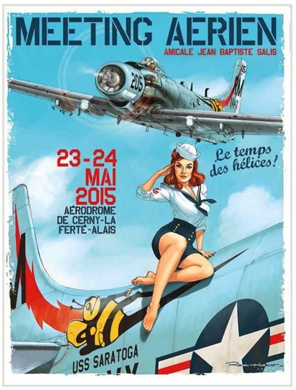 R.HUGAULT : ses affiches des meeting aériens de la Ferté-Allais Image34