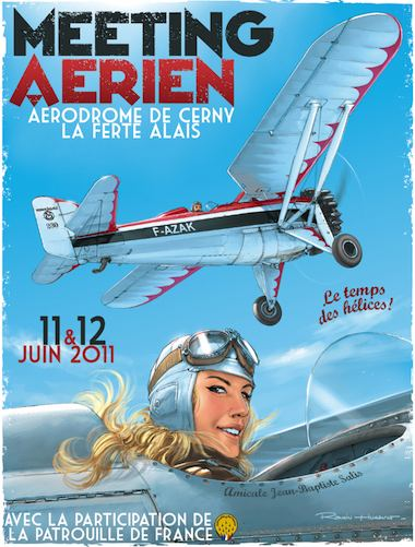 R.HUGAULT : ses affiches des meeting aériens de la Ferté-Allais Image35