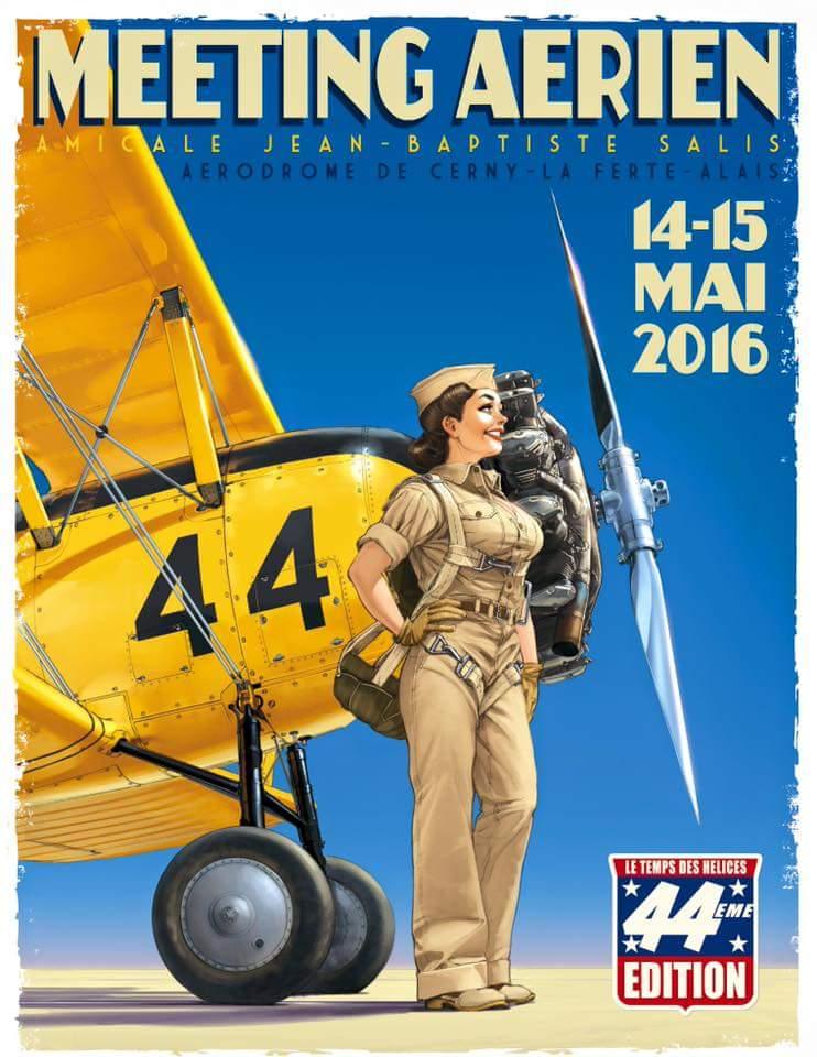 R.HUGAULT : ses affiches des meeting aériens de la Ferté-Allais Image36