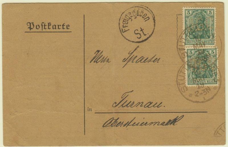 nach - Devisenkontrolle im Deutschen Reich nach Ende des 1. Weltkrieges Stuttg10