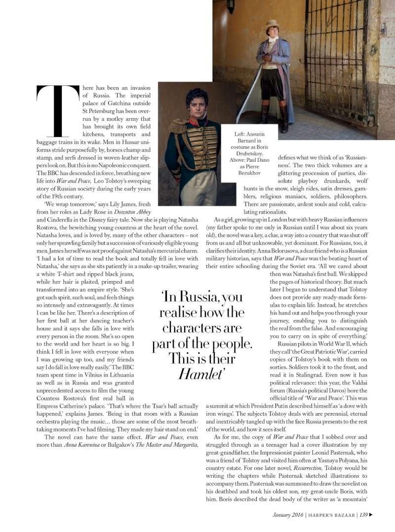 Dossier spécial War & Peace BBC dans Harper's Bazaar Wp545410