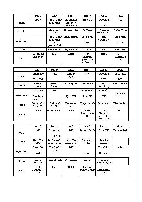 [Pré-TR] WDW première fois 7 au 24 août 2016 (2 nuits All-Star Sports - 15 nuits POR Royal Guest Room) - Page 2 Wdwpla10