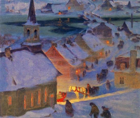 L hiver en peinture Gagnon10