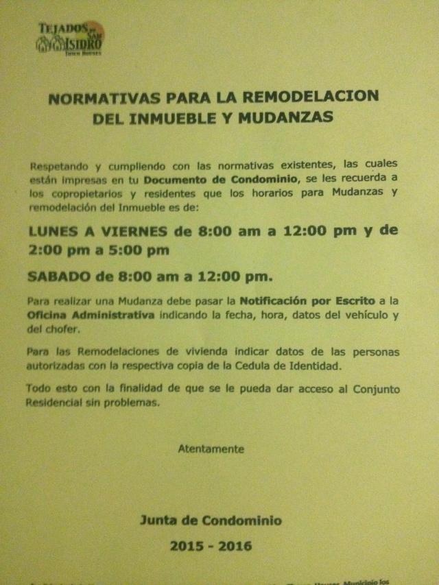 NORMATIVA PARA LA REMODELACION DEL INMUEBLE Y MUDANZA Img_2025