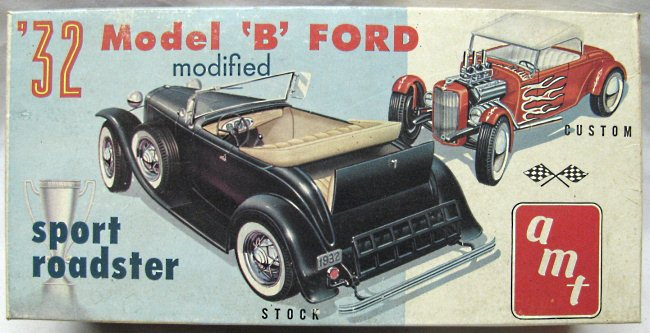 1932 Ford Model B Roadster - AMT Tropy Series - 1/25 scale Amt_3310