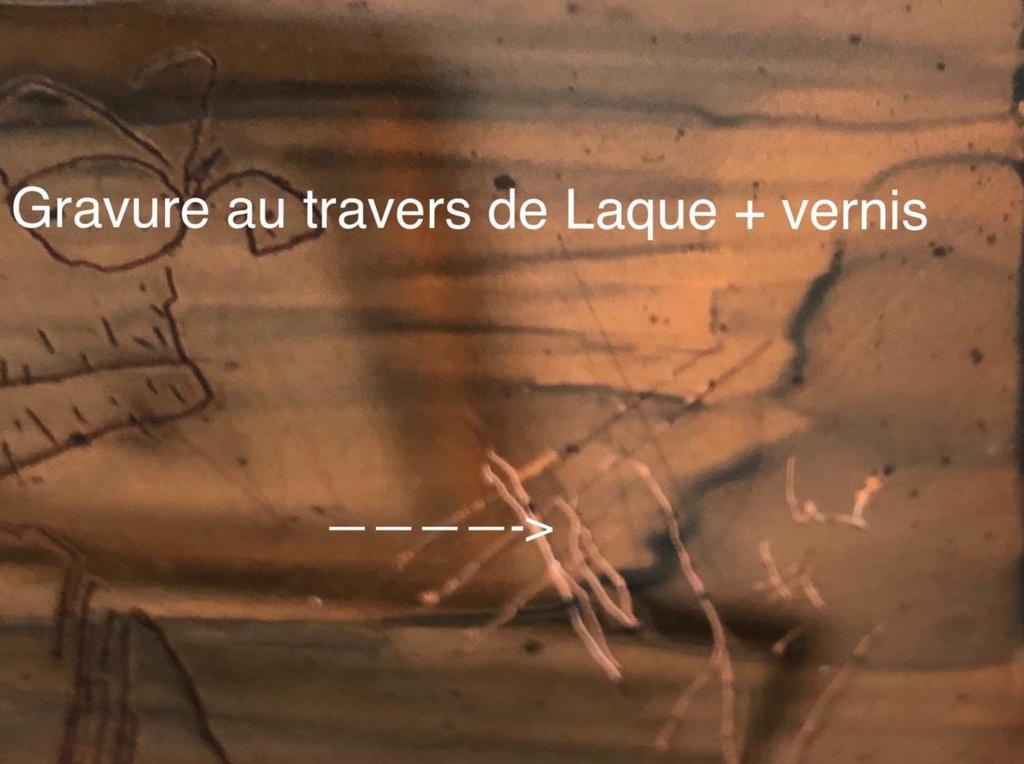 Vernis Gomme Laque comme vernis à recouvrir (Intérêt lors du report du dessin): Et, enfin un support solide !! Gravur10