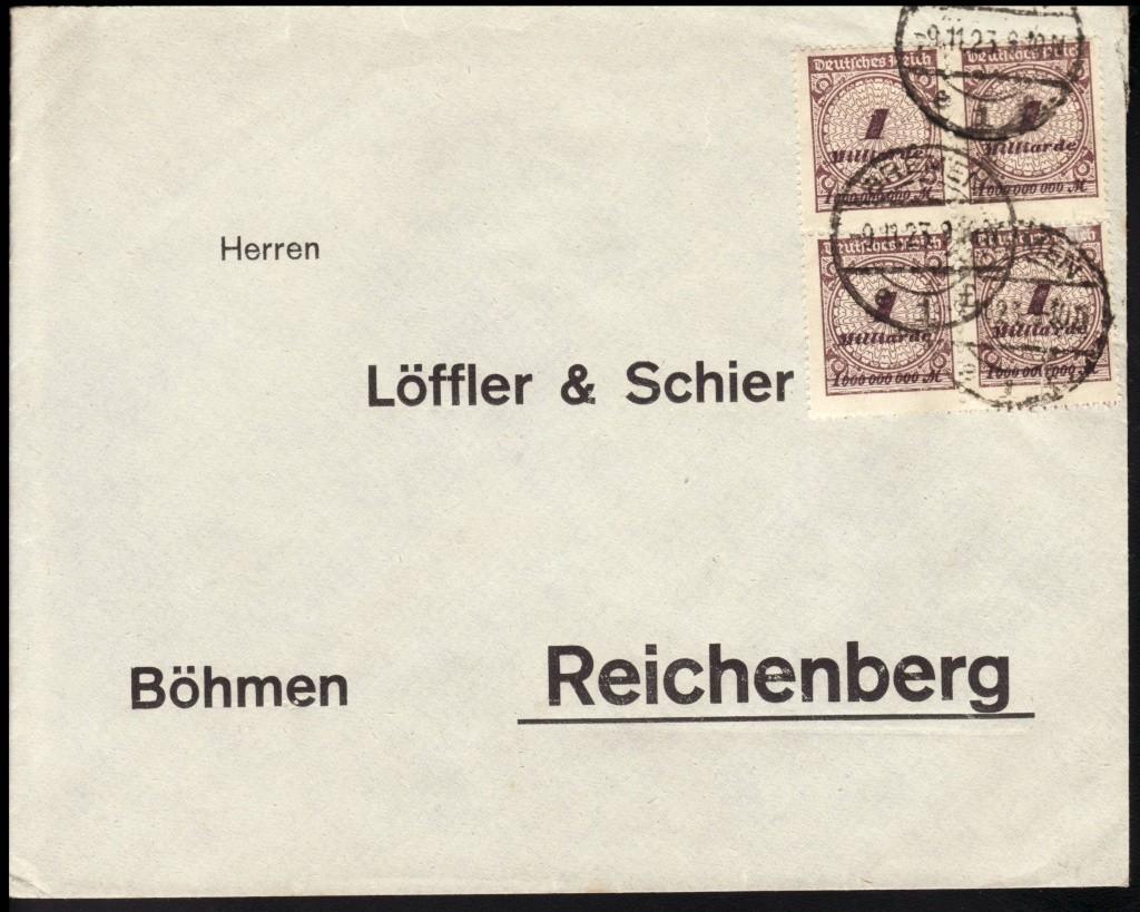 Deutsches Reich Okt. 1918 bis Nov. 1923 325wa210