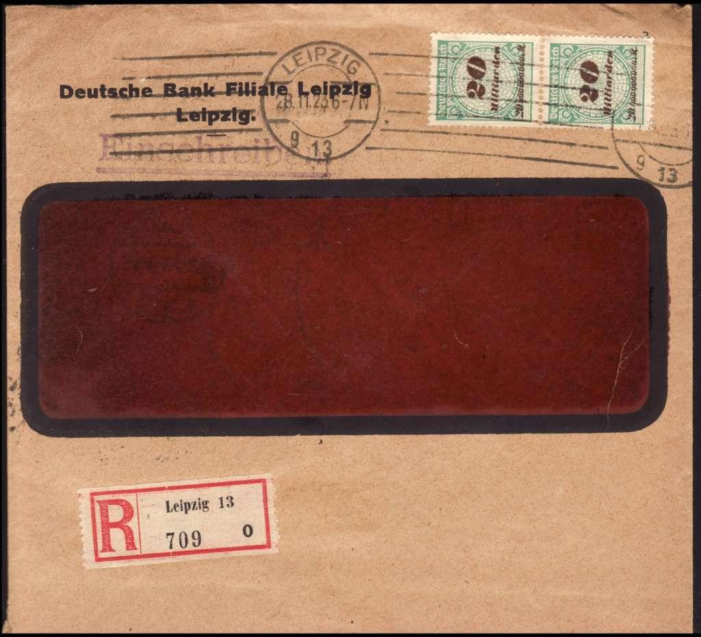 Deutsches Reich Okt. 1918 bis Nov. 1923 329aw10