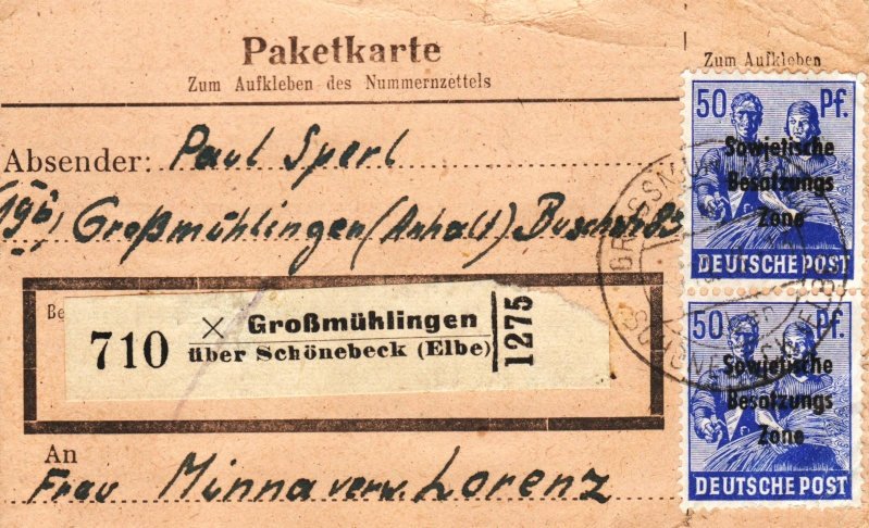 1945 - Deutschland  -  Landpoststempel (Poststellenstempel) - Seite 2 Psr20011