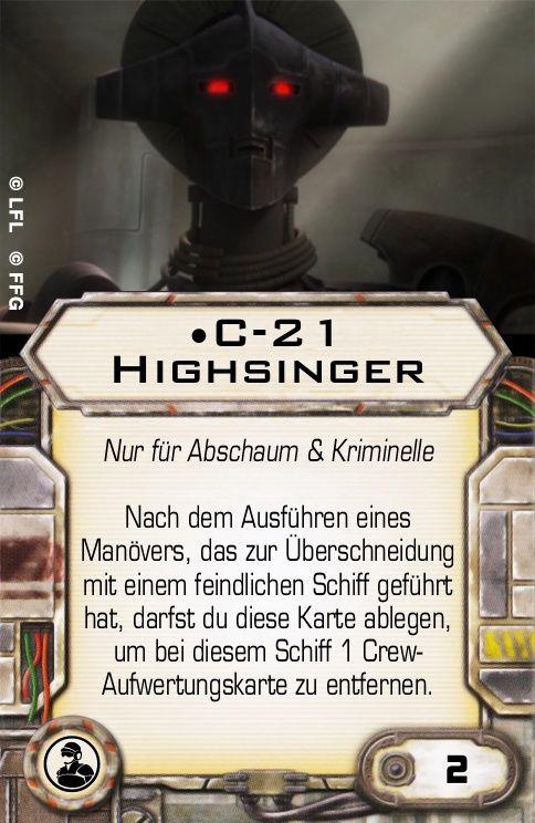 C-21 Highsinger (S&V Crew) C-21-h10