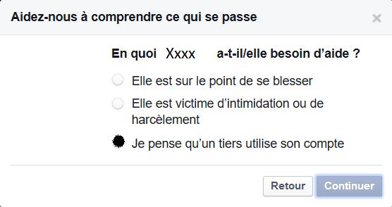 Message type d'une arnaque sur le chat privé de Facebook En_quo10