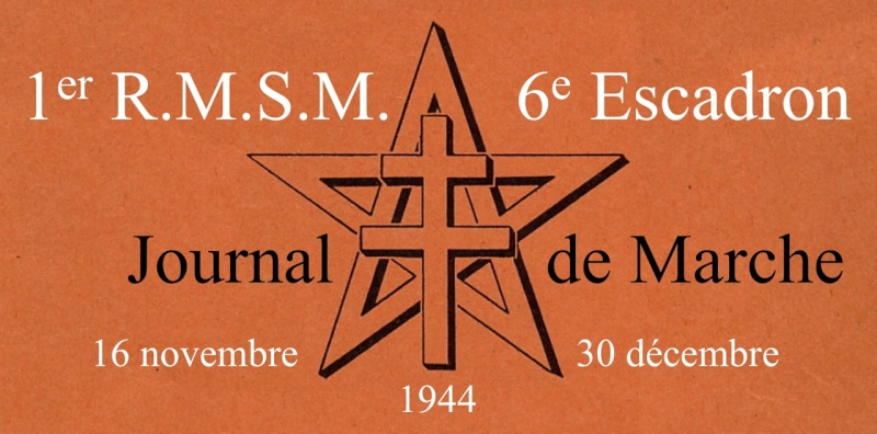 6/1er RMSM: Journal de Marche (16/11—30/12/1944) Bandea10