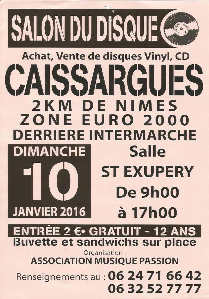 FOIRE AUX DISQUES DE CAISSARGUES ( a 2kms de NIMES ) le 10 JANVIER 2016 Foire_10